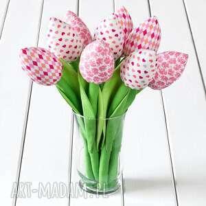 tulipany jasno różowy bawełniany bukiet, tulipany, dziecko, zabawka