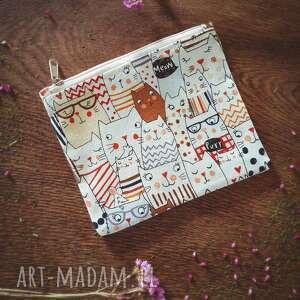 handmade kosmetyczki kosmetyczka zero waste kotki