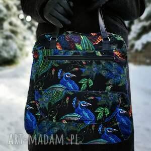 torebka listonoszka - pawie, elegancka, nowoczesna, prezent, święta, pawie