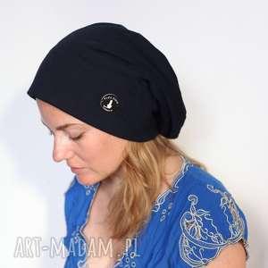 czapka dresowa duża unisex - dzianina, sport, damska, rower, męska, bawełna