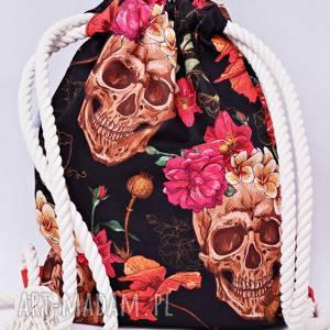 Workoplecak wodoodporny, worek plecak, ze sznurami, plecakoworek czachy czaszki