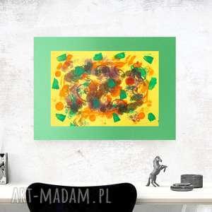 abstrakcja na ścianę, abstrakcyjna grafika, nowoczesna dekoracja, ręcznie wykonana
