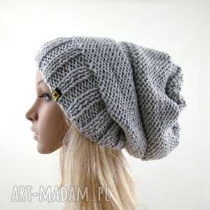 czapa jasnoszara, czapka, czapa, zimowa, uniwersalna, miękka, prezent
