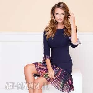 sukienka cynthia charm roz 38 40 42 - plisowana sukienka, sukienka z plisą
