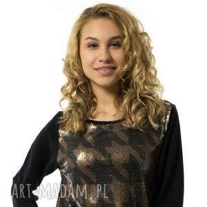 handmade bluzki bluza damska pepitka lustrino