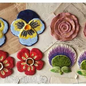 ceramika zestaw 8 kwiató ceramicznych, ceramika, kwiaty, róże, bratki, ogród