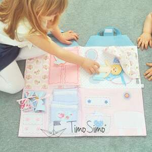 Składany domek dla lalek - mata sensoryczna Quiet Book dziewczynki 3 , quietbook