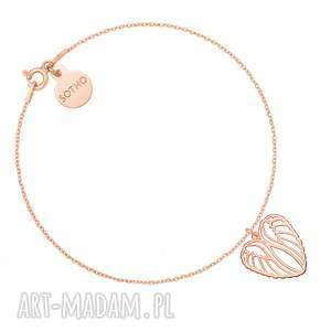 bransoletka ze skrzydełkami w kształcie serca z różowego