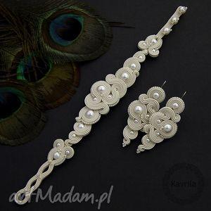 Kavrila: komplet ślubny milino pearl soutache
