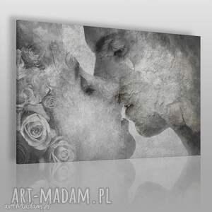 hand made obrazy obraz na płótnie - pocałunek beton - 120x80 cm (52601)