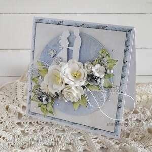 hand-made scrapbooking kartki kartka ślubna w pudełku, 586