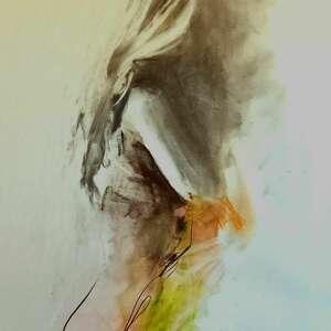 woman 50x70, duży obraz do salonu, sypialni, kobieta, sztuka