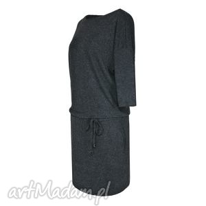 Sukienka Legato Antracite, sukienka, jesień, zima, wiązana, antracyt
