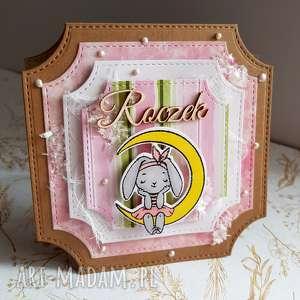 kartka na roczek z króliczką, dziewczynka, prezent dziecko, urodziny
