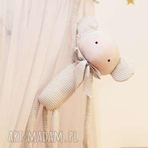 Przytulanka Małpka Krystyna (Szare paski), bawełna
