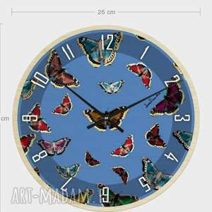 zegar z drewna Motyle , zegar, ściana, dekoracja, motyle, nowoczesność, oryginalność