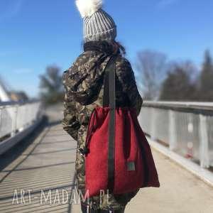 na ramię duża torba ze sznurkami, torebkacodzienna, torebkazplecionki