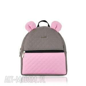 plecaczek farbiś 702 choco-różowy, plecaczek, farbiś, lekki, pakowny