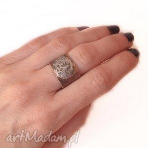 pierścionek z oksydowanej miedzi /1/, pierścionek, pierścień, miedż, oksydowana