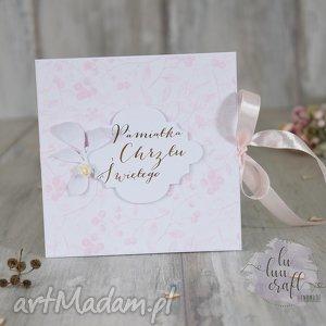 scrapbooking kartki pamiątka chrztu świętego dla dziewczynki, kartka, chrzest, święty
