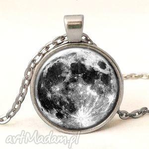 egginegg pełnia księżyca - medalion z łańcuszkiem - czarne