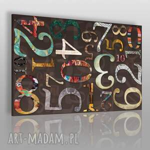 obraz na płótnie - cyfry 120x80 cm 32901, cyfry, liczby, wzory, abstrakcja