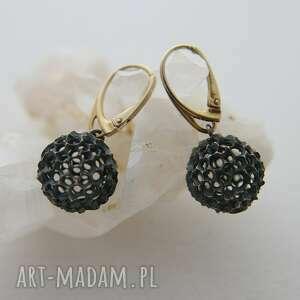 srebrne kolczyki artystyczne z kolekcji kasztanki, kolczyki, biżuteria