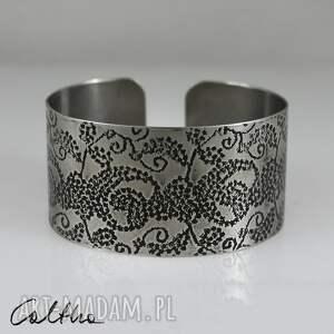pnącza - metalowa bransoletka 171202-03, branosleta, bransoletka, szeroka, duża