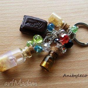 BRELOK - słoiczki, brelok, modelina, fimo, czekoladka, buteleczka