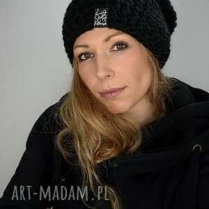 święta, mono 01 - czarna, czapka zimowa, na narty, zimę, ciepla