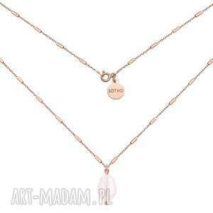 Naszyjnik z różowego złota naturalną perłą naszyjniki sotho