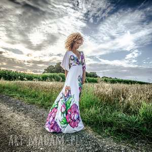 magdalena maxi flower - sukienka, suknia, wieczorowa, ślubna, kwiaty sukienki