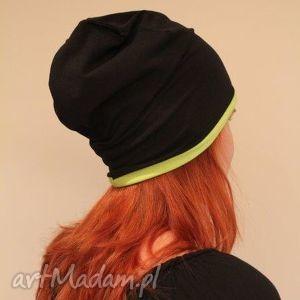 hand made czapki czapka 2 w 1 dresowa dwustronna dwukolorowa beanie