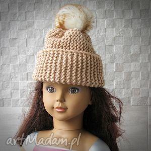 Czapka dla dziecka z pomponem., czapka, dziecko, pompon, gruba, zima, fashion