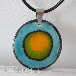 naszyjnik ceramiczny 2 w 1 - z ceramiki, kolorowy, etniczny, indyjski, wielobarwny
