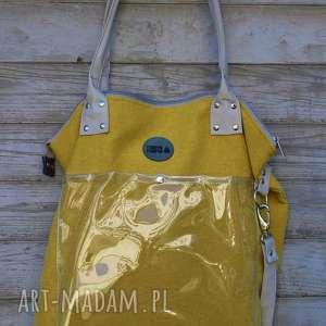na ramię torba w kolorze miodowym z kieszenią, torba, worek, torebka
