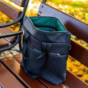 święta, torebka premium #08, duża torebka, czarna torba, pikowana