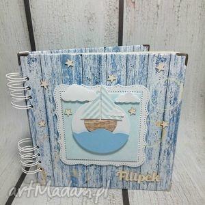 Marynarski album na zdjęcia., marynarski, statek, chrzest, urodziny, chłopiec