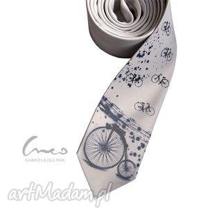 krawaty krawat z nadrukiem - bicykl, krawat, nadruk, prezent, śledzik