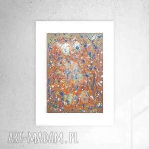 nowoczesna grafika do pokoju, oryginalna abstrakcja na ścianę, dekoracja