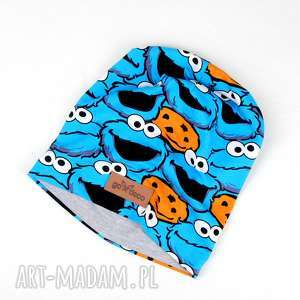 Kolorowa czapka ciasteczkowy potwór , czapka, ciasteczkowy-potwór, cookie-monster