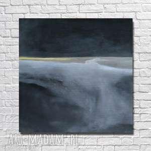 ABSTRAKCJA W CZERNI -obraz akrylowy formatu 40/40 cm, abstrakcja, obraz, kwadrat,
