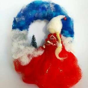 wianek zimowa wróżka z kolekcji bald kommt weihnachten - rękodzieło