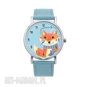 Pomysł na prezent. Zegarek z grafiką świąteczny lisek prezent pod