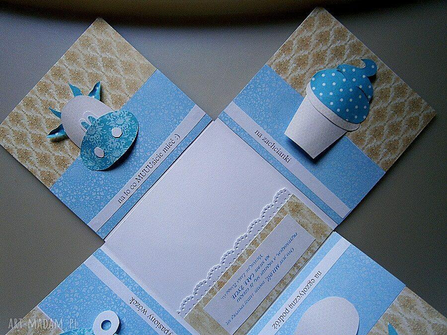 kartka ślub beżowe eksplodujące pudełko ślubne