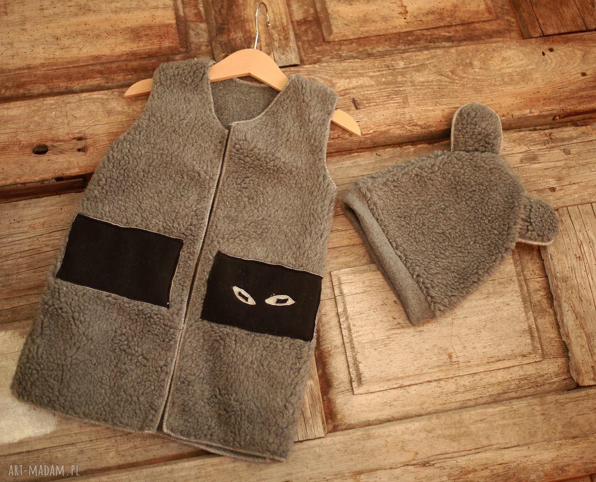 wyjątkowe ubranka czapa kocia kamizelka i