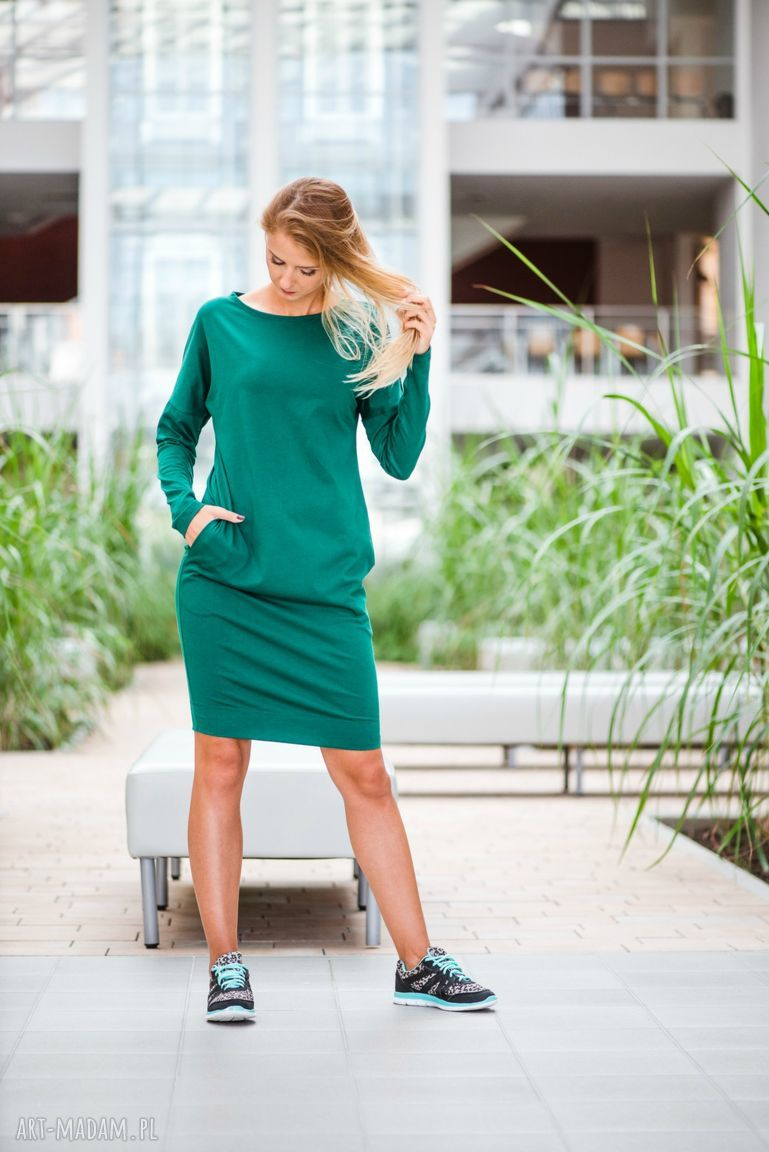 gustowne sukienki sukienka overlong | dresowa