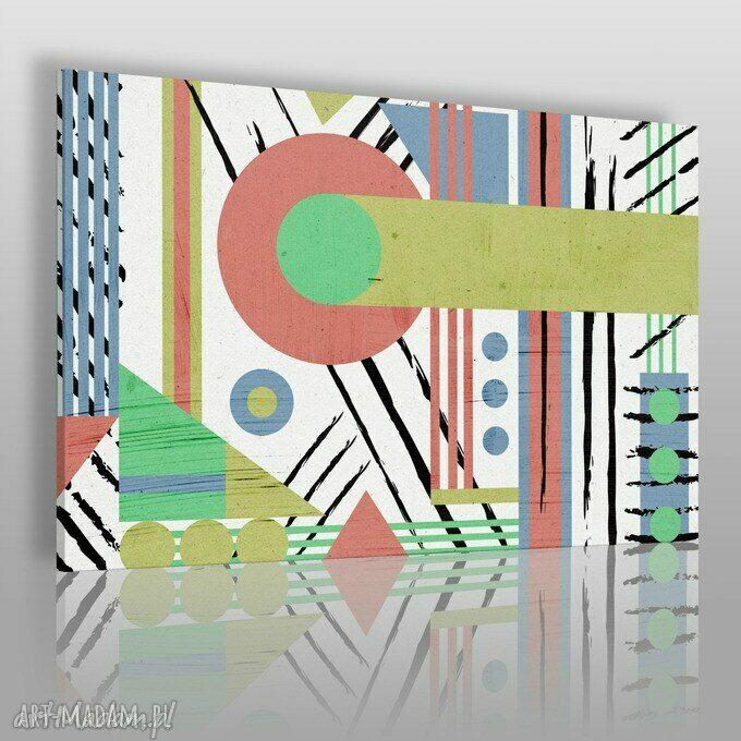 hand-made obrazy obraz na płótnie - abstrakcja geometria - 120x80 cm (37501)
