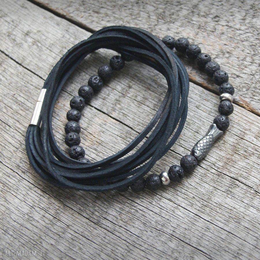 ryba męska szare bransoletka :: fish & black