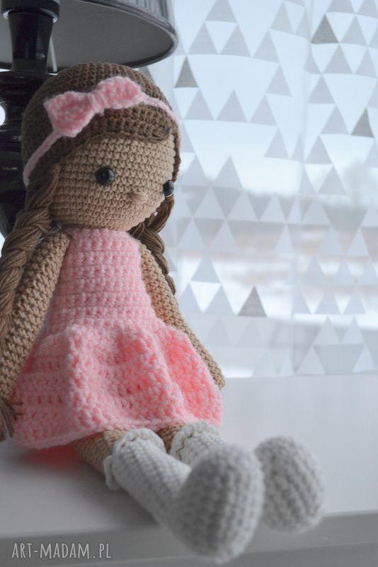 ręcznie robione lalki lala alicja różowa